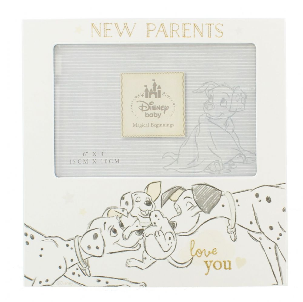 Disney New Parents Photo Frame Gift - 101 Dalmations New Parents Family Photo Frame Gift